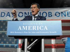 Mitt Romney details his plan at a truck-manufacturing plant in North Las Vegas, Nev.