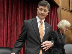 "Co-chairs of the Joint Select Committee on Deficit Reduction, Rep. Jeb Hensarling, R-Texas, and Sen. Patty Murray, D-Wash., arrive for the first organizational meeting of the so-called ""supercommittee"" on Capitol Hill."