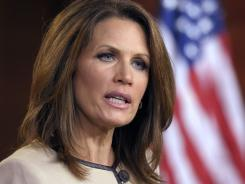 Republican presidential candidate Rep. Michele Bachmann, R-Minn., delivers the Republican response to a speech by President Obama in Washington on Thursday.