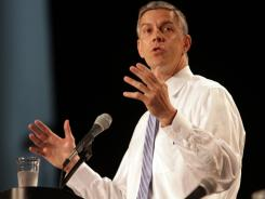 U.S. Education Secretary Arne Duncan says schools' contracts with testing companies should require statistical study that can detect cheating.