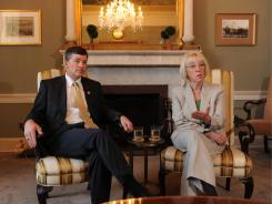 "Rep. Jeb Hensarling and Sen. Patty Murray, co-chairs of the bipartisan deficit reduction  ""supercommittee,"" speak with USA TODAY in a joint interview."