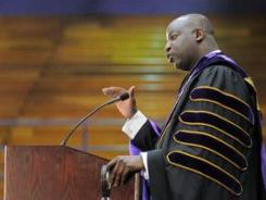 Alcorn State University President M. Christopher Brown II speaks at his inauguration in April.