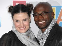 There are more interracial marriages between between blacks and whites, such as that of actors Idina Menzel and Taye Diggs.