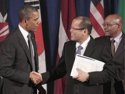 President Obama, the Philippines' Benigno Aquino III and South Africa's Jacob Zuma meet Tuesday in New York for the Open Government Partnership.