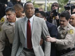 Conrad Murray, Michael Jackson's doctor, arrives at the Airport Courthouse in Los Angeles on Feb. 8, 2010, to face charges of involuntary manslaughter in the singer's death in Los Angeles.