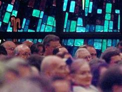 People attend a Southern Baptists of Texas constitutional convention in Houston in 1998.