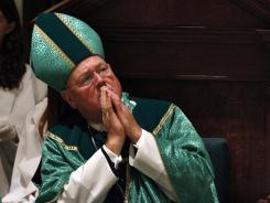 Archbishop Timothy Dolan said in a letter to the Obama administration that denying a federal ban on gay marriage could cause major conflict between church and state.