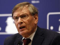 Major League Baseball Commissioner Bud Selig speaks during a news conference  Thursday, April 21, 2011, in New York.