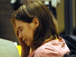 Amanda Knox is seen in court on Friday.