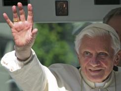 Pope Benedict XVI arrives at the Cathedral of Freiburg, southwestern Germany, Saturday.