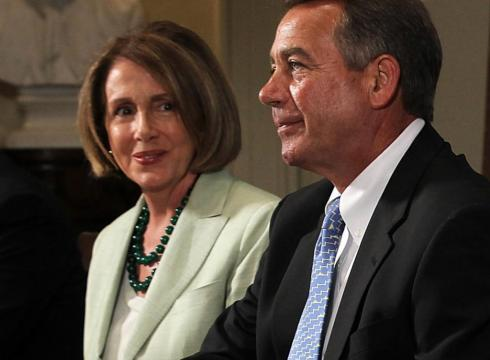 ... : House Minority Leader Nancy Pelosi and House Speaker John Boehner