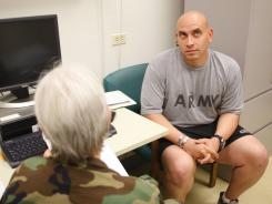 A doctor tests the memory of a sergeant who survived head trauma in Afghanistan.