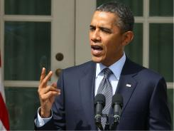 President Obama touts his deficit-reduction plan, which calls for tax increases, Sept. 19 at the White House.