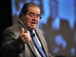 Supreme Court Justice Antonin Scalia speaks during the American Bar Association's 59th annual Antitrust Law Spring meeting March 31 in Washington, D.C.