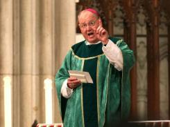 New York Archbishop Timothy Dolan speaks during a service in New York on Sept. 11. Bishops issued a document on the responsibilities of Catholic voters on Tuesday.