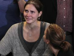 Amanda Knox arrives back in Seattle on Tuesday.