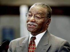 Rev. Fred L. Shuttlesworth speaks inside City Council chambers in Cincinnati in 2002.