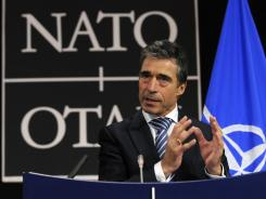 NATO Secretary General Anders Fogh Rasmussen said the decision to halt the Libya air operation would hinge on the National Transitional Council's ability to maintain order.