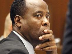 Conrad Murray at his trial in the death of Michael Jackson on Friday in Los Angeles.