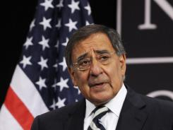 U.S. Secretary of Defense Leon Panetta speaks during a press conference at the NATO headquarters on Thursday.