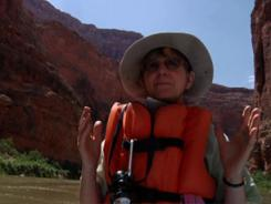 "The film, ""No Dinosaurs in Heaven,"" follows Eugenie Scott, executive director of the National Center for Science Education, down the Colorado River as she refutes creationist theories that the Grand Canyon is only a few thousand years old and shows evidence of the biblical flood."