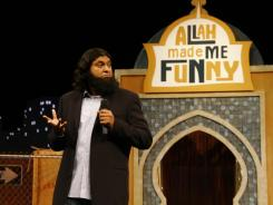 Stand-up comic Azhar Usman, a Muslim, finds support in the Quran and in the sayings of the prophet Mohammed that God laughs.