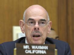 House Oversight and Investigations subcommittee member Rep. Henry Waxman, D-Calif., speaks during the  Solyndra hearing on Capitol Hill.