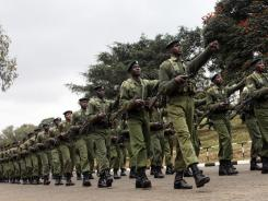 Kenyan military forces moved into southern Somalia on Sunday.