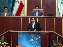 Iran's President Mahmoud Ahmadinejad addresses students in parliament in Tehran on Sunday. He is among top leaders who denied an assassination plot.