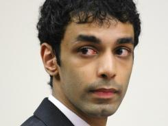 Dharun Ravi, Tyler Clementi's former roommate, sits in Middlesex County Court during a motion hearing in September.