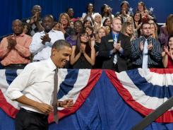 President Obama speaks about American schools at Eastfield College in Mesquite, Texas, on Oct. 4.