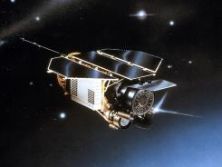An artist rendering of ROSAT, which was launched in June 1990.