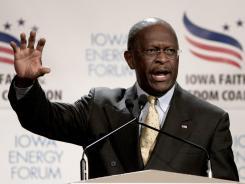 Cain: Seeking GOP nomination.