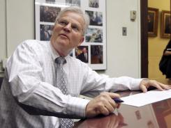 Former Louisiana governor  Buddy Roemer files his declaration of candidacy papers to run in the New Hampshire presidential primary on Wednesday.