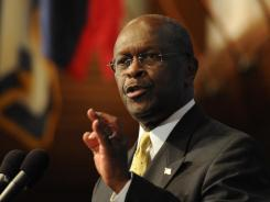 Herman Cain recalled details of the sexual harassment cases Monday.