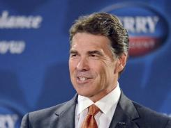 Texas Gov. Rick Perry speaks in Gray Court, S.C., on Oct. 25.