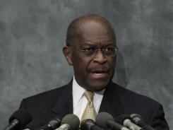 Republican presidential candidate Herman Cain speaks at the Congressional Health Caucus Thought Leaders Series on Wednesday in Washington.