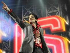 "Michael Jackson rehearses for his ""This is It"" tour on June 23, 2009, at the Staples Center in Los Angeles."