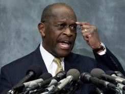 Republican presidential hopeful Herman Cain faces a harassment allegation from a third woman.