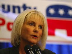 Rep. Sandy Adams, R-Fla, was elected last year. She is shown here giving her acceptance speech in Orlando on Nov. 2, 2010.