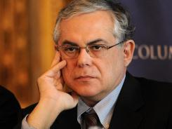 A picture taken on February 20, 2009, shows Lucas Papademos at a conference in New York.