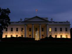 An exterior view of the White House.