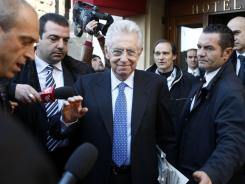 Italy's new premier Mario Monti moves forward with new gov't