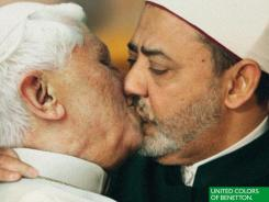The Vatican said it would pursue legal action against Benetton for a new ad campaign that features Pope Benedict XVI kissing Egyptian cleric Sheikh Ahmed Mohamed El-Tayeb.