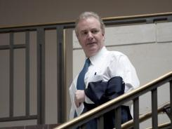 Rep. Chris Van Hollen, D-Md., arrives for a closed-door meeting of the supercommittee on Oct. 4.