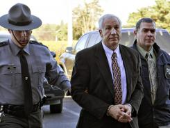 Sandusky says contact with boys was not sexual.