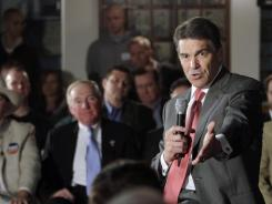 Rick Perry speaks Wednesday in Nashua, N.H.