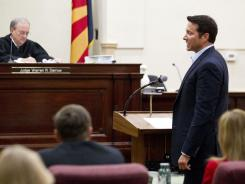 Self-help author James Arthur Ray asks forgiveness from the famliy of his victims during sentencing on Friday.