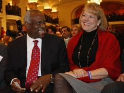 Justice Clarence Thomas and wife Virginia, a critic of the 2010 health care law.