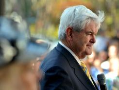 """When you go from also-ran to one of the two front-runners, you're inevitably going to get a huge amount of scrutiny,"" Republican hopeful Newt Gingrich says."
